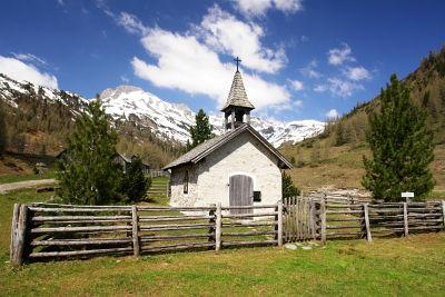 Die liebliche Kapelle bei der Lantschfeldalm