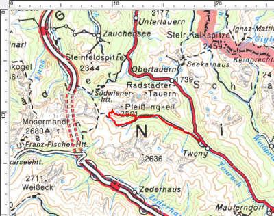 Das Tourengebiet westlich von Tweng