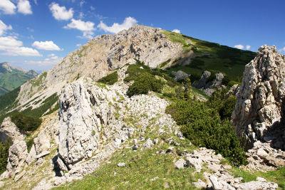 Blick zurück zur Kahlwandspitze