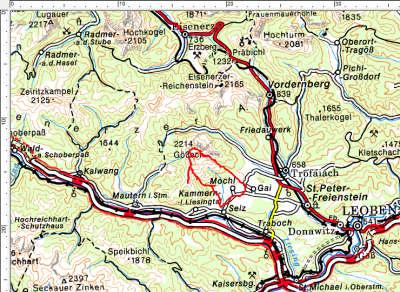 Das Tourengebiet in den südlichen Eisenerzer Alpen