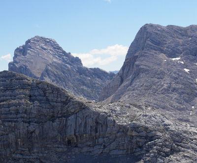 Von Nordwesten: Spitzmauer und Temlberg vom Hochplattenkogel aus gesehen