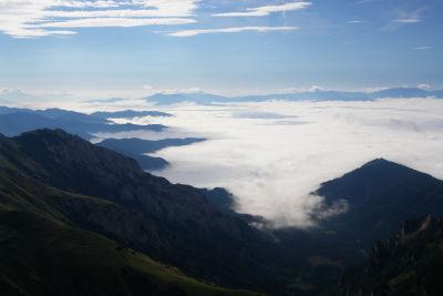 Blick über die Nebeldecke im Süden