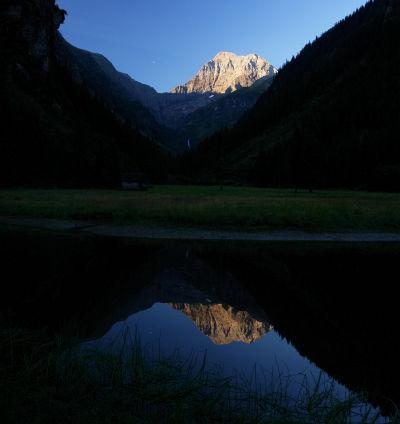 Wasserspiegelung der Hochgolling-Nordwand