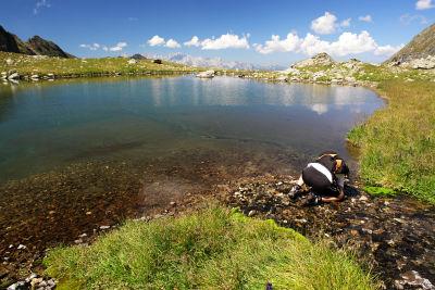 Besonderer Einsatz im eiskalten Bergwasser