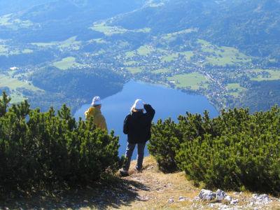 Tiefblick von der Trisselwand zum Altausseer See