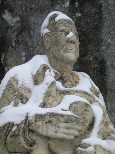 Peter Rosegger-Statue am Stoderzinken