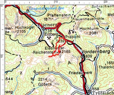 Das Tourengebiet Eisenerzer Reichenstein - Hohe Lins