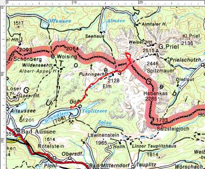 Tourengebiet Lahngangsee-Puehringerhuette-Hochplattenkogel