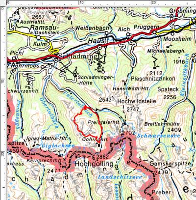 Das Tourengebiet in der Gemeinde Rohrmoos in den Schladminger Tauern