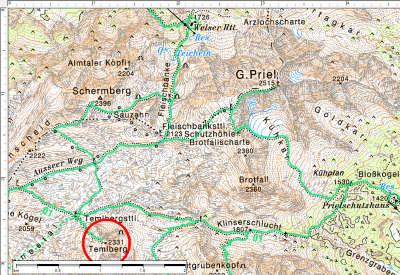 Wanderwege auf den Temlberg
