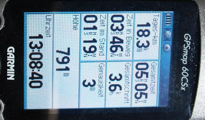 Das klare, scharfe Display des GPSMAP 60CSx
