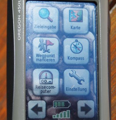 ... oder durch Antippen mit den Fingern am Touchscreen
