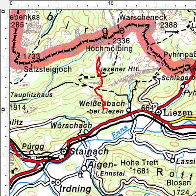 Tourengebiet Liezener Hütte - Kleinmölbing