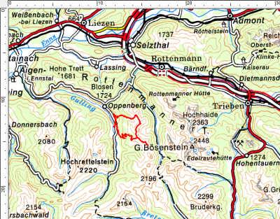 Tourengebiet Wirtsspitz - Schüttkogel - Horninger Zinken