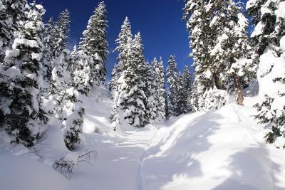 Prächtige Schneeverhältnisse im Kemetgebirge