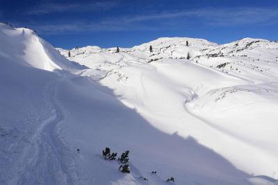 Bereits ausreichend Schnee am Plateau