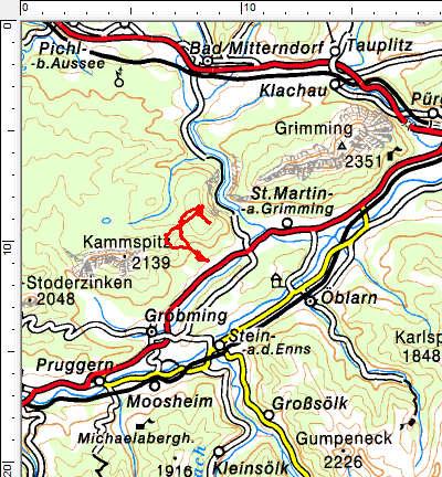 Tourengebiet Hochknall - Bergereck