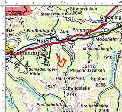 Tourengebiet Labeckalm - Schwarzkogel