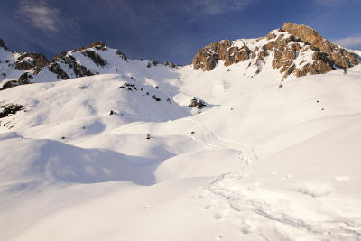 Hügeliges Plateau südlich von Mühlauer Sattel und Kreuzmauer