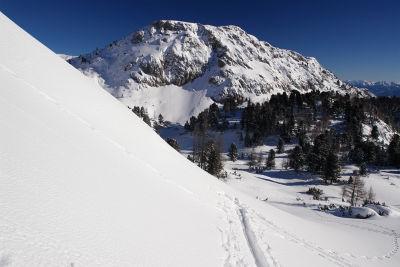 Ausblick zum Kufstein am Weg zur Luserwand