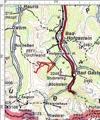 Tourengebiet Angertal - Kalkbretterkopf