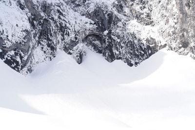 Das Grimmingtor: 50 Meter hoch, 15 Meter breit