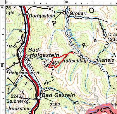 Tourengebiet Frauenkogel - Gamskarkogel