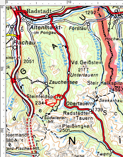 Tourengebiet Tauernkarleitenalm - Bärenstaffl