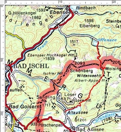 Tourengebiet Offensee - Wildensee - Altausseer See