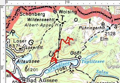 Tourengebiet Grundlsee - Reichenstein - Siniweler