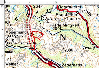 Tourengebiet Muhreralm - Stampferwand