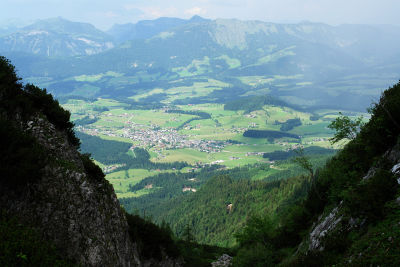 Tiefblick über Abtenau