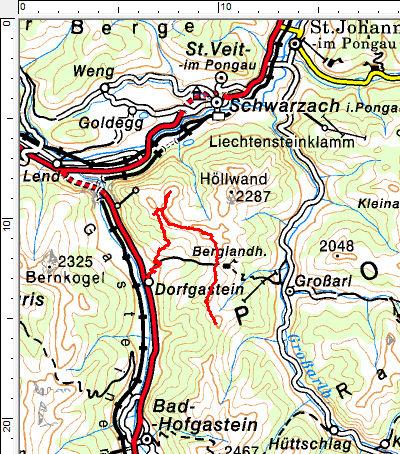 Tourengebiet Dorfgastein - Fulseck - Schuhflicker - Paarseen