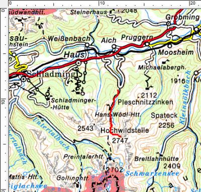 Tourengebiet Steirischer Bodensee - Hochwildstelle