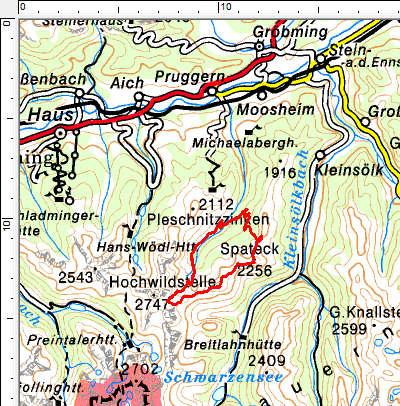Tourengebiet Goldlacken - Stierkarkopf - Säuleck - Spateck