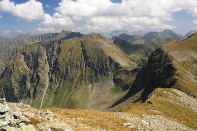 Vom Schöneck zur Gamskarspitze (Bildmitte)