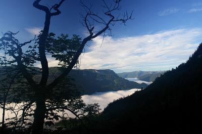 Nebelmeer über dem Grundlsee