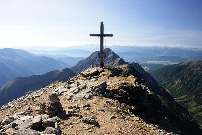 Gipfelkreuz am Hochgolling