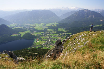 Tiefblick vom Loser zum Altausseer See