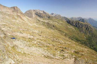 Blick über das Weitkar östlich der Deichselspitze