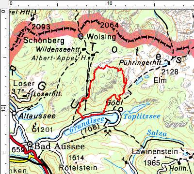 Tourengebiet Breitwiesenalm - Widderkar - Dreibrüderkogel