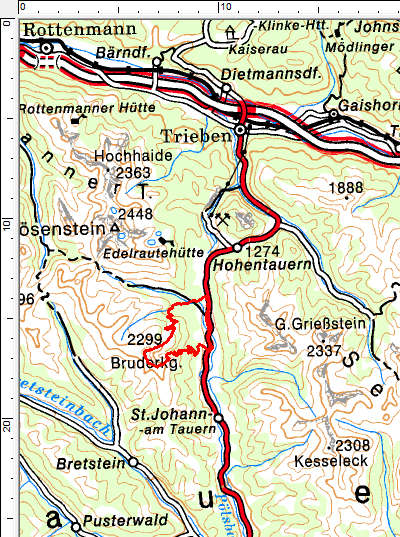 Tourengebiet Hohentauern - Bruderkogel