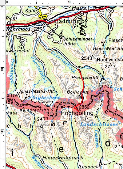 Tourengebiet Rohrmoos-Untertal - Hochgolling