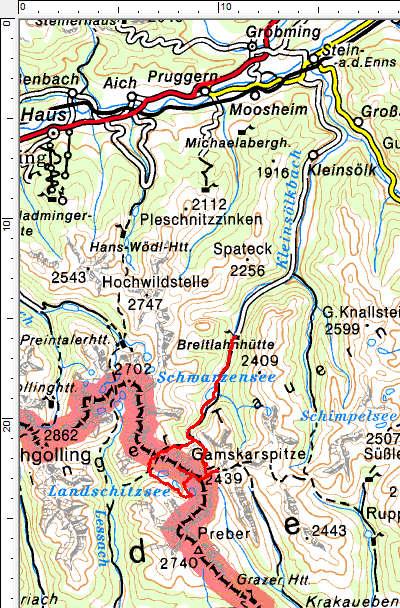 Tourengebiet Schwarzensee - Lanschitzseen