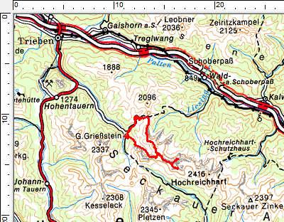 Tourengebiet Triebental - Geierhaupt - Kerschkern