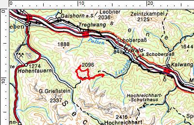Tourengebiet Liesing - Triebener Tauern