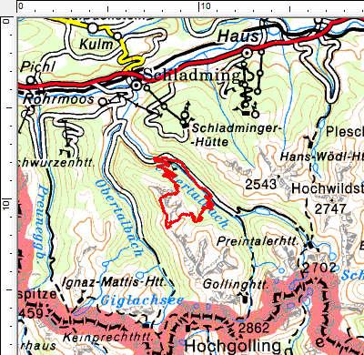 Tourengebiet Rohrmoos-Untertal - Steinkarzinken