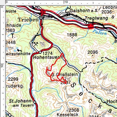 Tourengebiet Hohentauern - Triebental