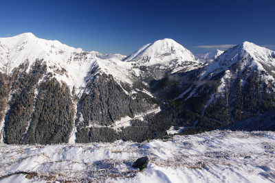 Herrlicher Ausblick auf Sonntagskogel und Großen Grießstein