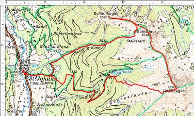 Routenverlauf Schleifkogel - Schleifeck - Lärchkogel